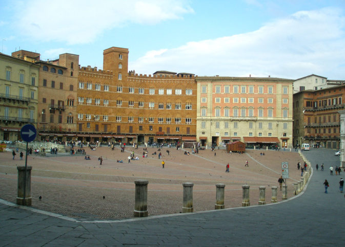 O centro histórico de Siena: exclusivo para pedestres