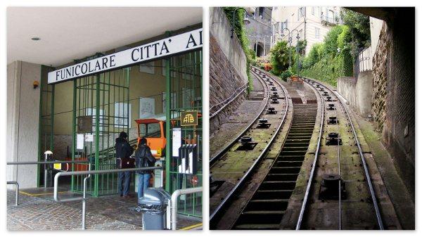 O funiculare de Bergamo