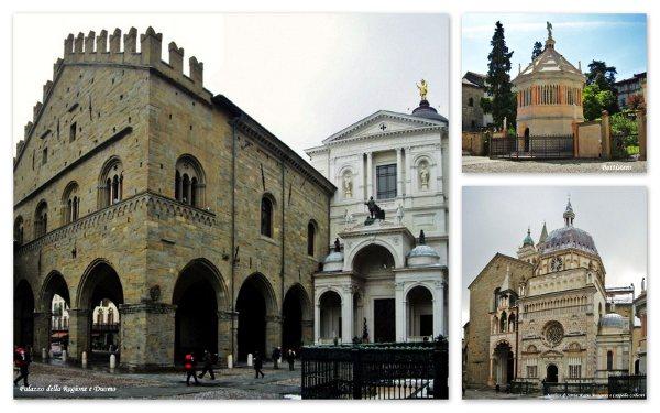 A beleza do centro histórico de Bergamo, na Itália