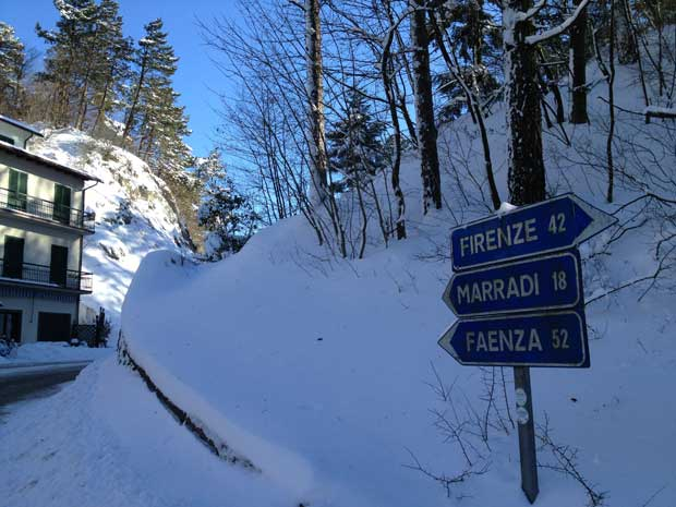 No meio do caminho entre Florença e Marradi, na Toscana