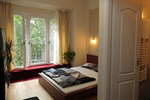 O quarto do Maverick Hostel em Budapeste
