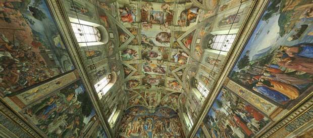 imagem ilustrativa do tour virtual na Capela Sistina