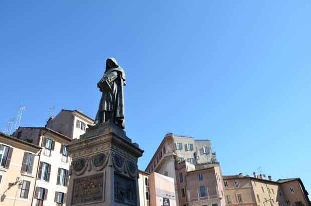 A estátua de Giordano Bruno