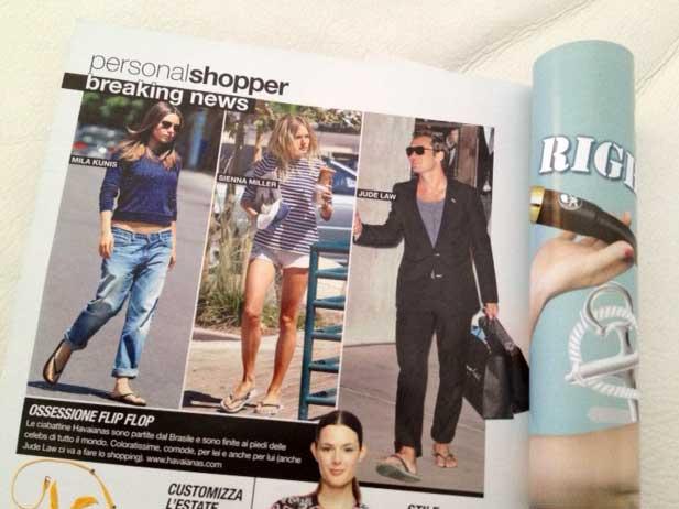 página da revista italiana Glamour, edição 256 (giugno 2013)