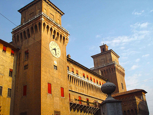 A cidade de Ferrara, na Itália