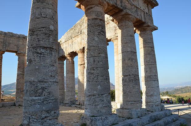 Detalhe do templo de Segesta