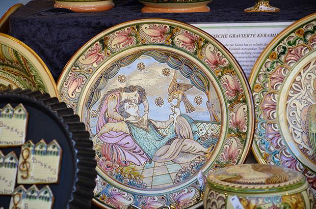 O mercado com produtos típicos montado no Giardino delle Duchesse