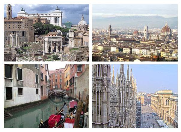 Roma, Florença, Veneza, Milão... para onde você quer ir?