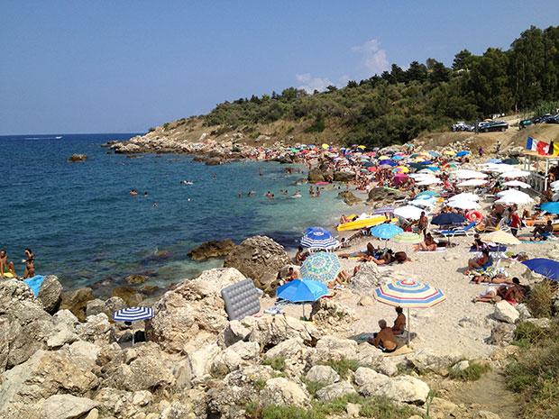 Uma das praias de Scopello