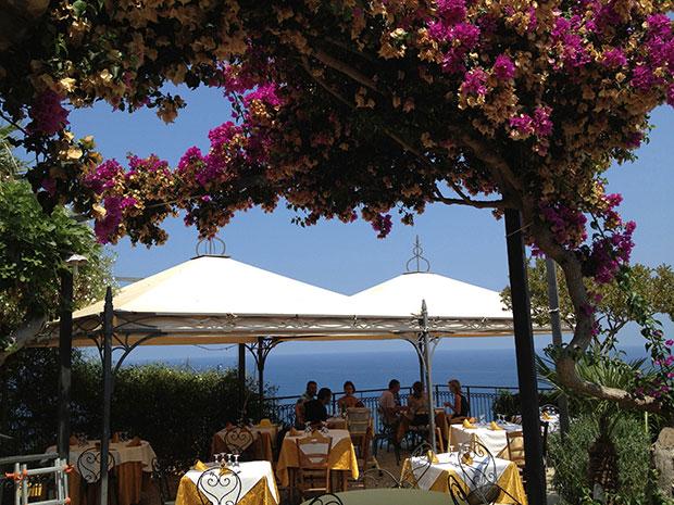 O restaurante La Terrazza, em Scopello