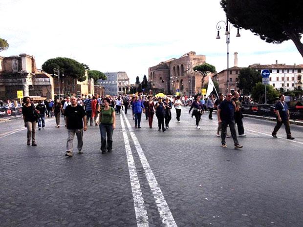 Roma, forum imperial: festa de encerramento