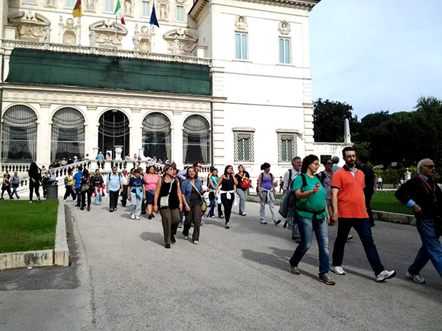 """O Percurso """"7 Villas"""" - passando pela Villa Borghese"""