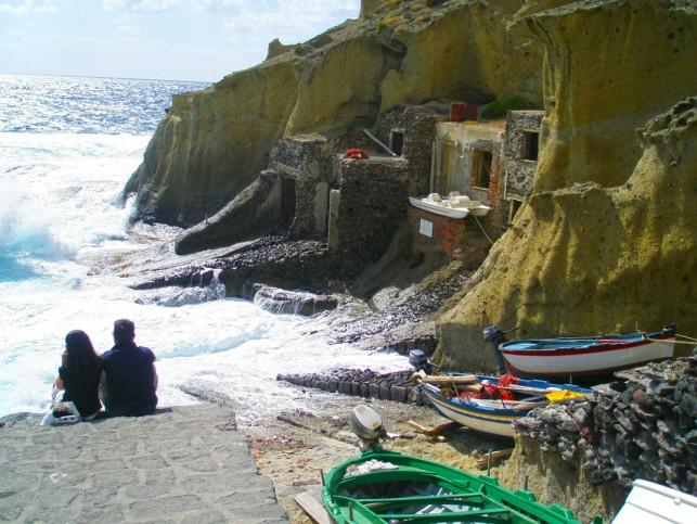 Antiga vila de pescadores em Salina
