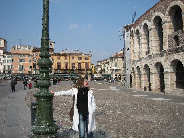 Minha visita a Arena de Verona, em março de 2006