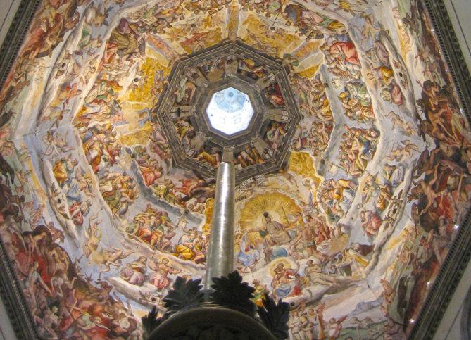 """Detalhe do interior da catedral de Florença (o """"Duomo"""")"""