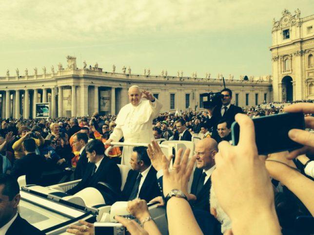 O Papa Francisco ontem