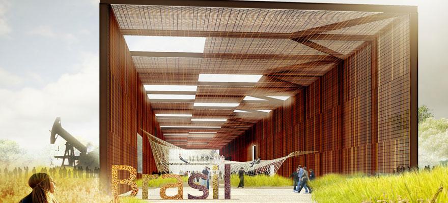 Projeto do pavilhão do Brasil de Arthur Casas