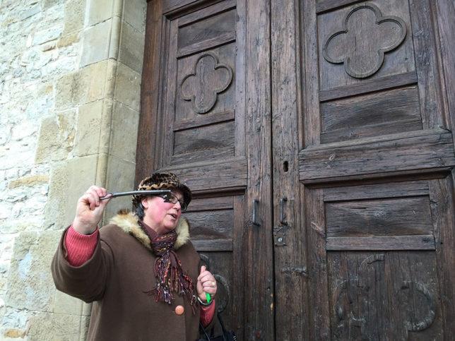 Entrando no Oratorio de S. Caterina