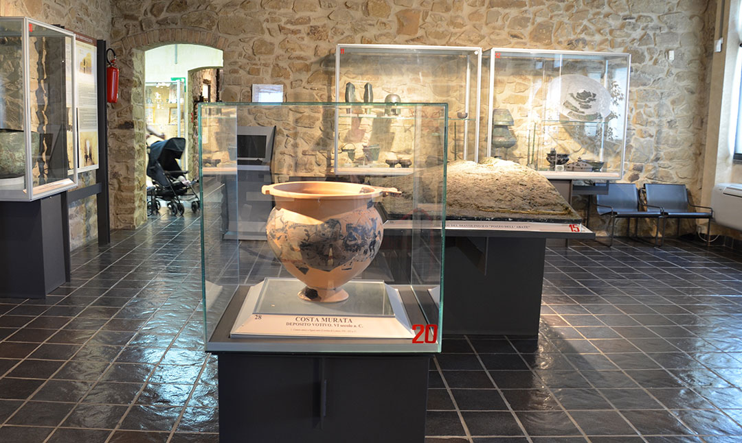 Uma das 7 salas do Museu Isidoro Falchi em Vetulonia