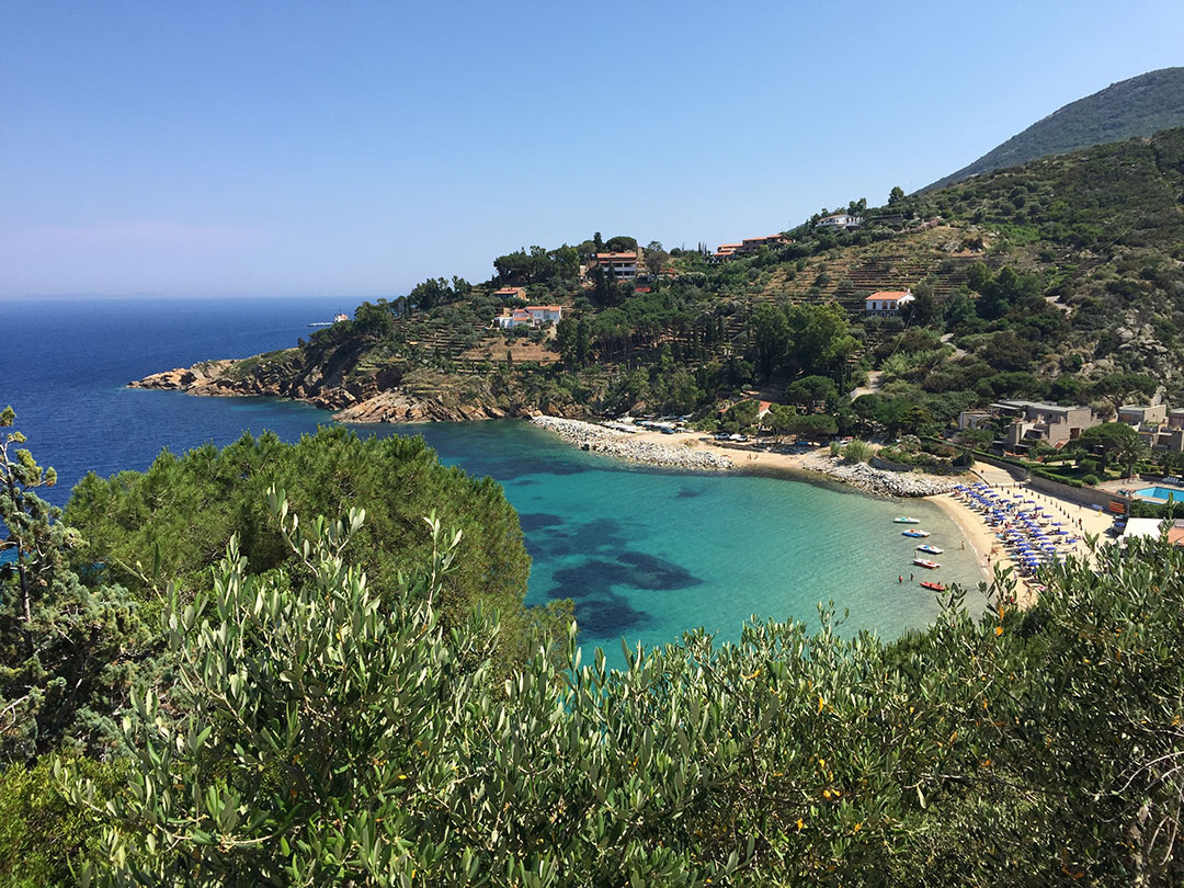 Praia Le Cannelle na Toscana (junho/2015)
