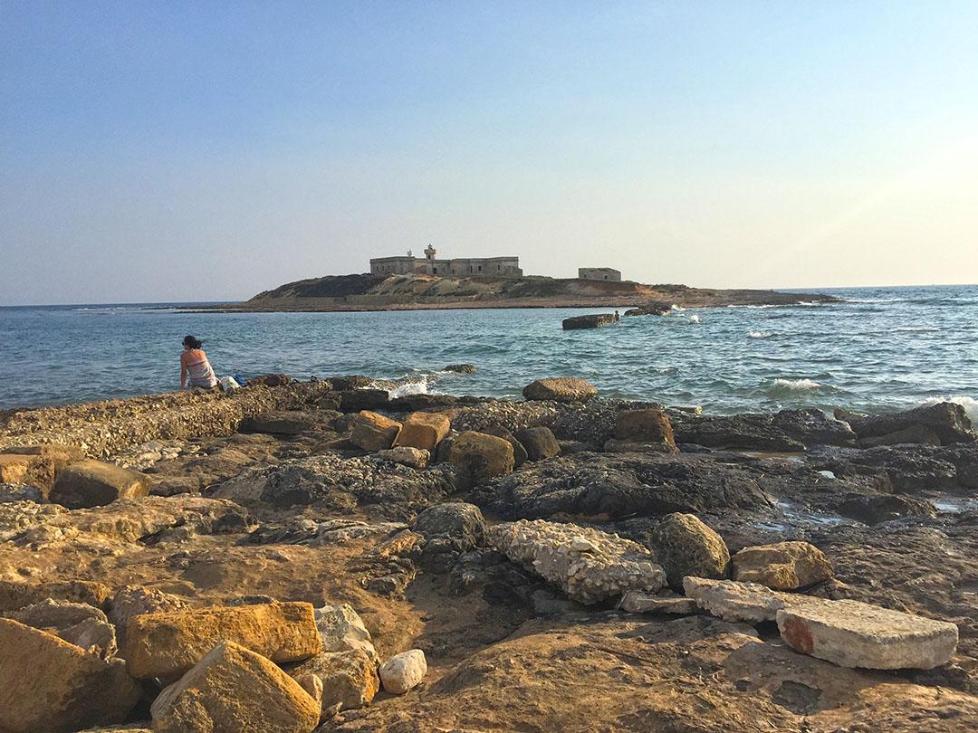 Isola delle Correnti, no extremo sul da Sicília