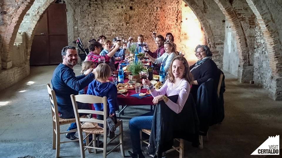 Almoço em Certaldo