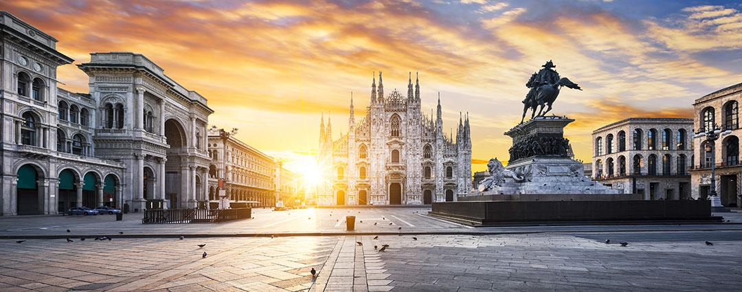 Viagens internacionais, turismo agência de viagens Porto Alegre, roteiro internacional, viagem para Europa, Milão, Itália, catedral de Milão, Sforza, Constantino